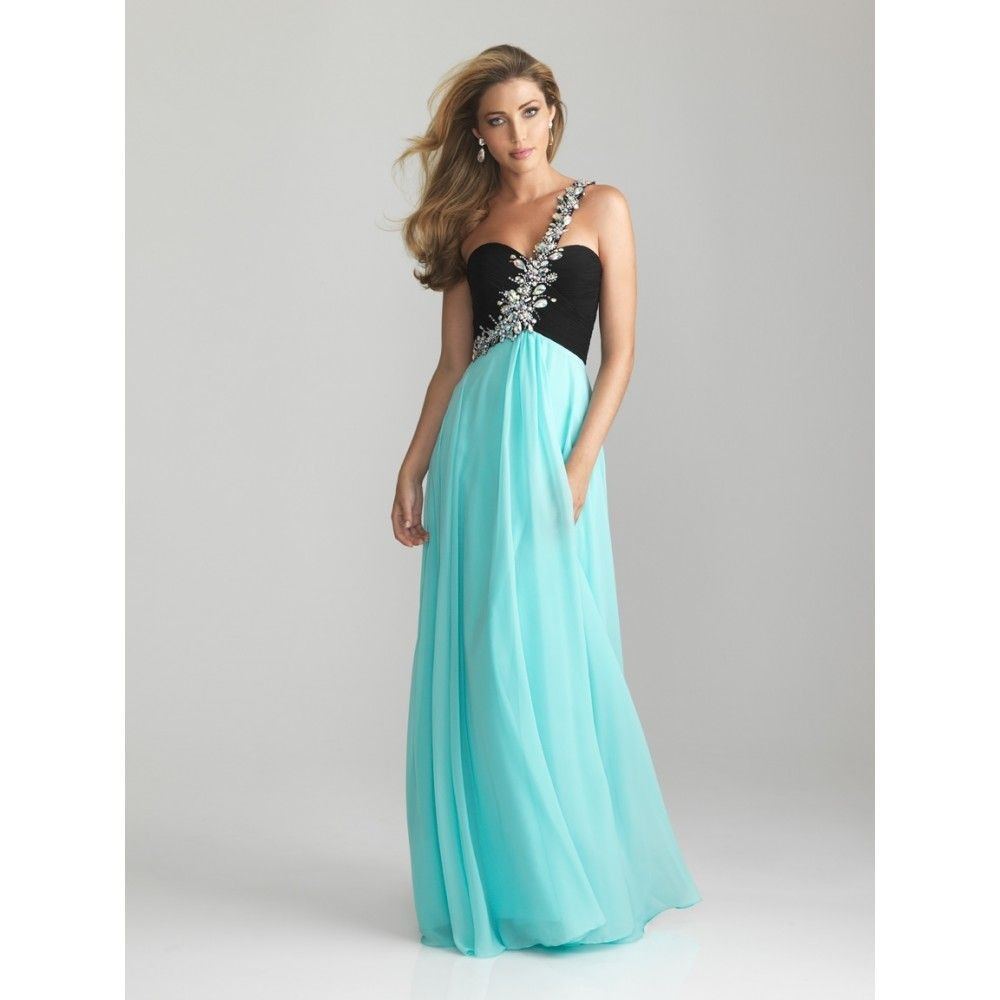 turquoise evening dresses | ... Asymmetric Beaded Ruched Chiffon ...