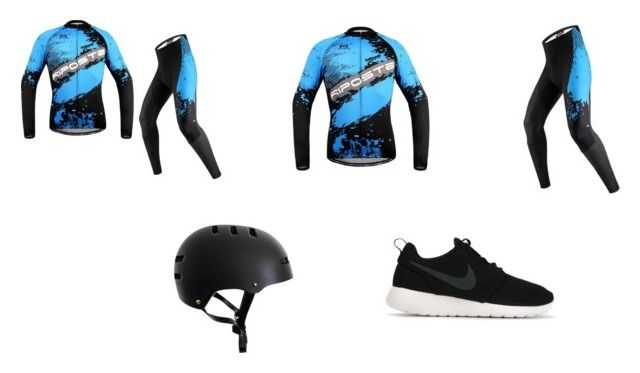 """fabulous cycling wear"" by minozlli on Polyvore featuring NIKE, women's clothing, women's fashion, women, female, woman, misses and juniors"