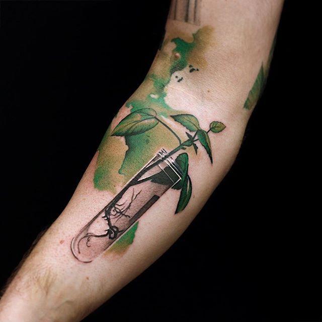 Growing life tattoo testtube catapulttattoo ink lab for Ink lab tattoo