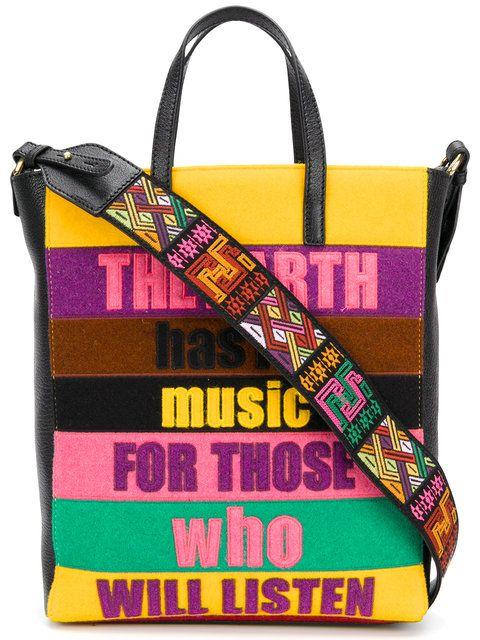 a1bffc97c4ad Etro patchwork slogan bag   pattern > WORDS • LOGO