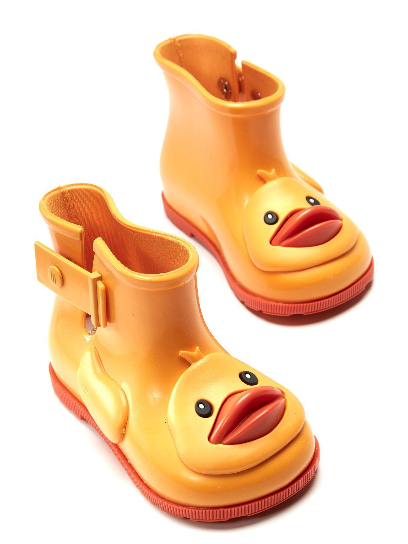 3aab42a1b3910d Mini Melissa Yellow Short Rain Boot