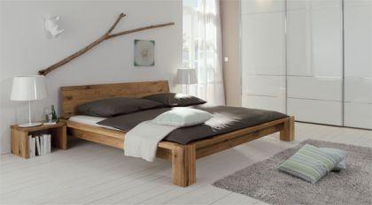 Rustikales Wildeiche Bett Massiv Gebaut Perugia Betten De