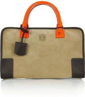 20e31ca98 shopstyle.com: Loewe Amazona 600 leather and suede tote   ms. bev ...