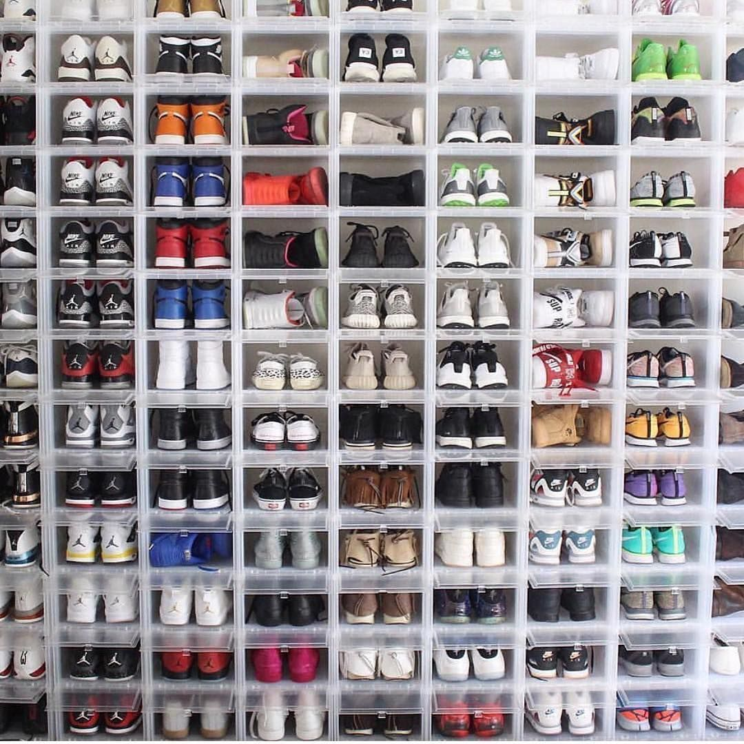 sneakers collection pic by coryjking sneakers collections pinterest rangement. Black Bedroom Furniture Sets. Home Design Ideas