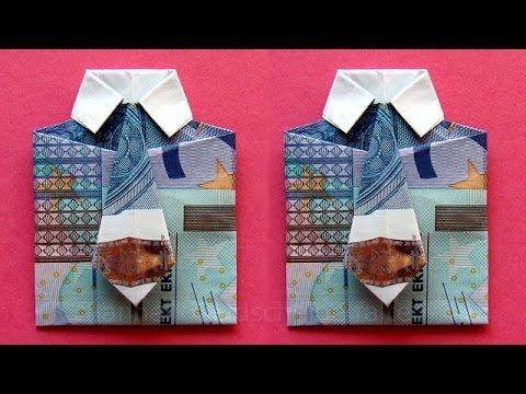 Geld falten hemd und kleid