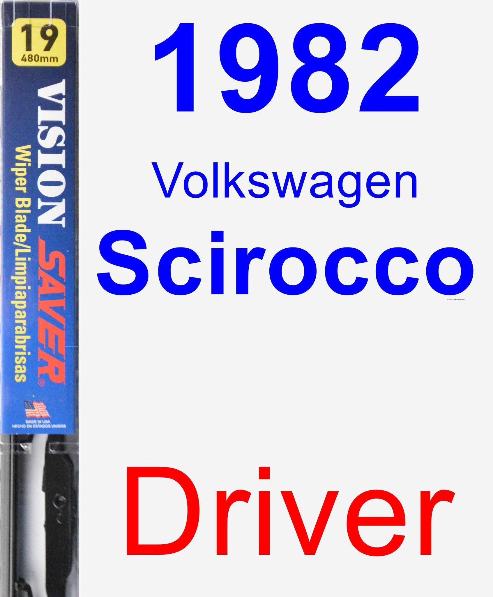 Driver Wiper Blade for 1982 Volkswagen Scirocco - Vision Saver