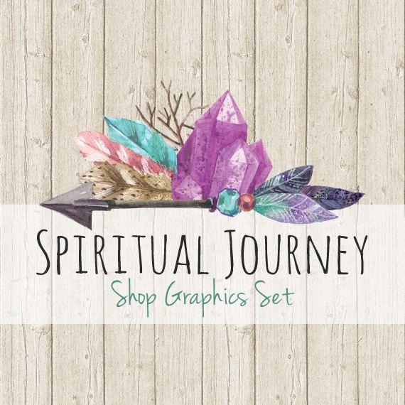 9db77d512265e Boho Crystal Shop Branding Banners, Avatar Icons, Business Card ...