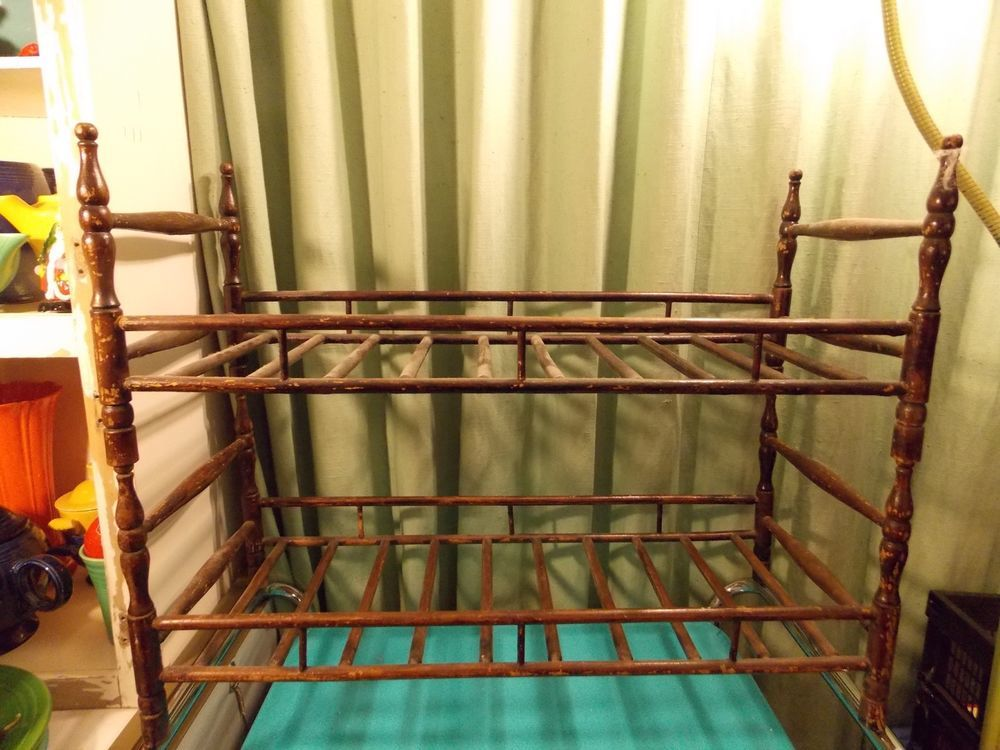 Antique Doll Bunk Beds Spindle Stacking