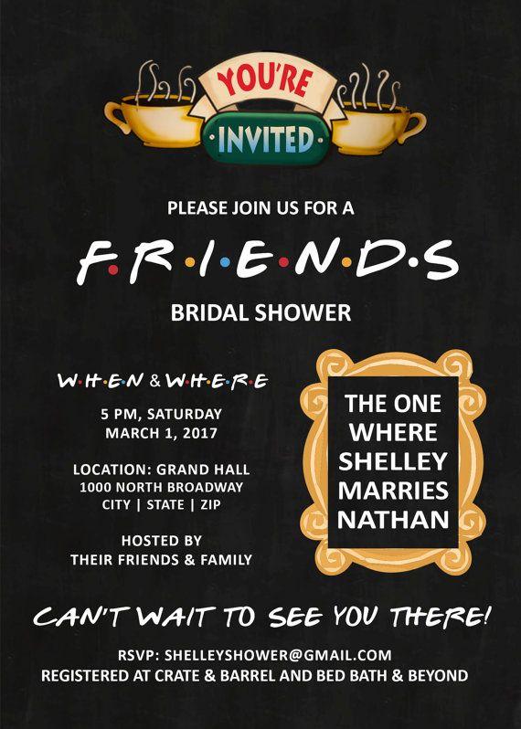 c3abe1d9515 Friends Theme Invitation. Friends Theme Invitation Bachelorette Invitations