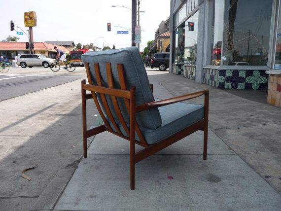 Pair of Selig Danish Modern Teak Slat Back Chairs by XcapeVintage, $2400.00