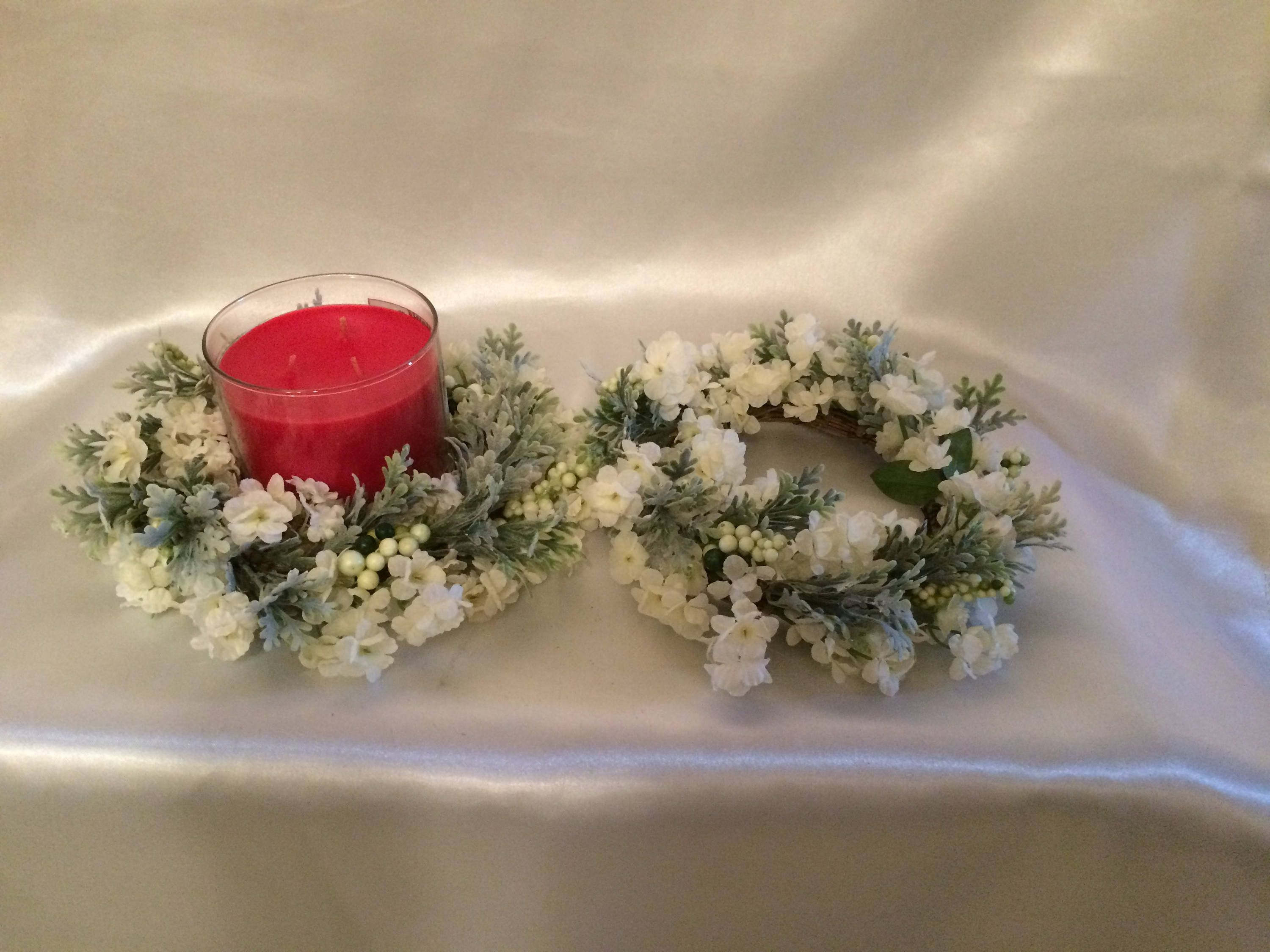 by candle pin ring etsy rings wreath on farmhouse ashandhartfloral eucalyptus