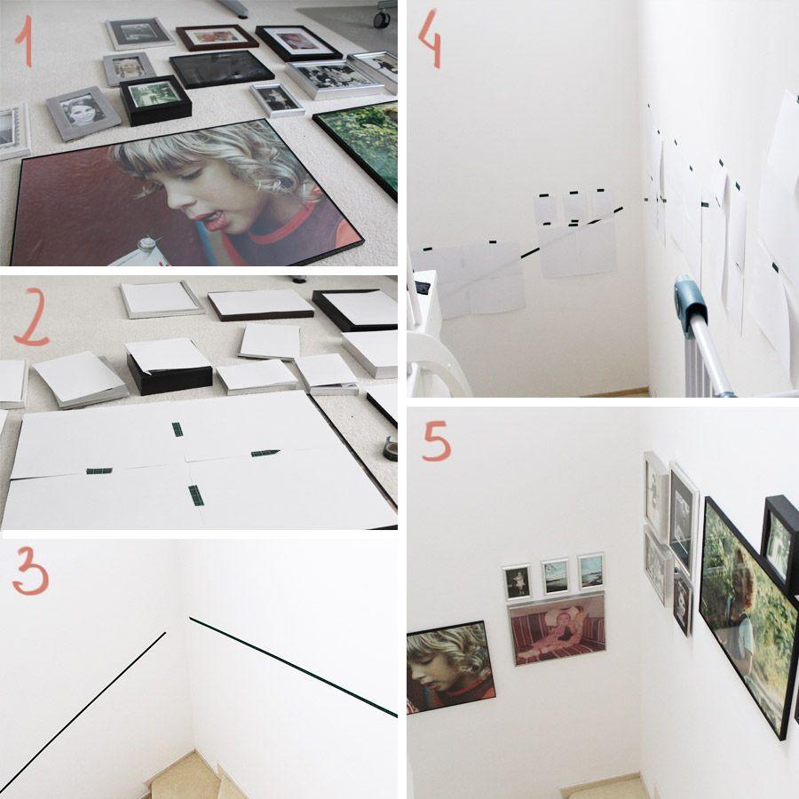 Diy Freutag Tutorial Bilder An Der Treppe Anbringen Bilderrahmen Aufhängen Bilder Aufhängen Kinder Zimmer