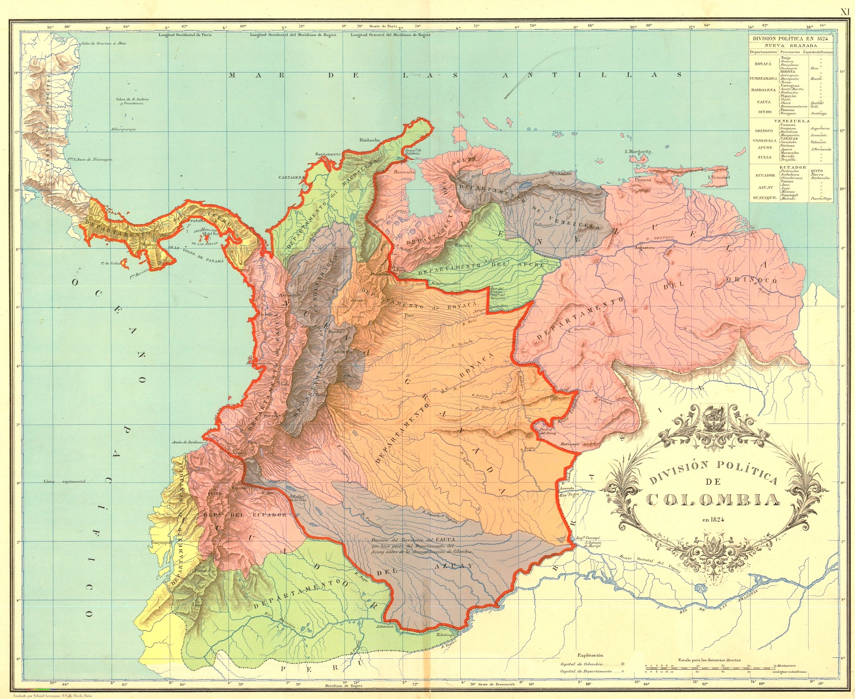 Flagmap Of Gran Colombia Maps Of South America Pinterest - South america map gran chaco