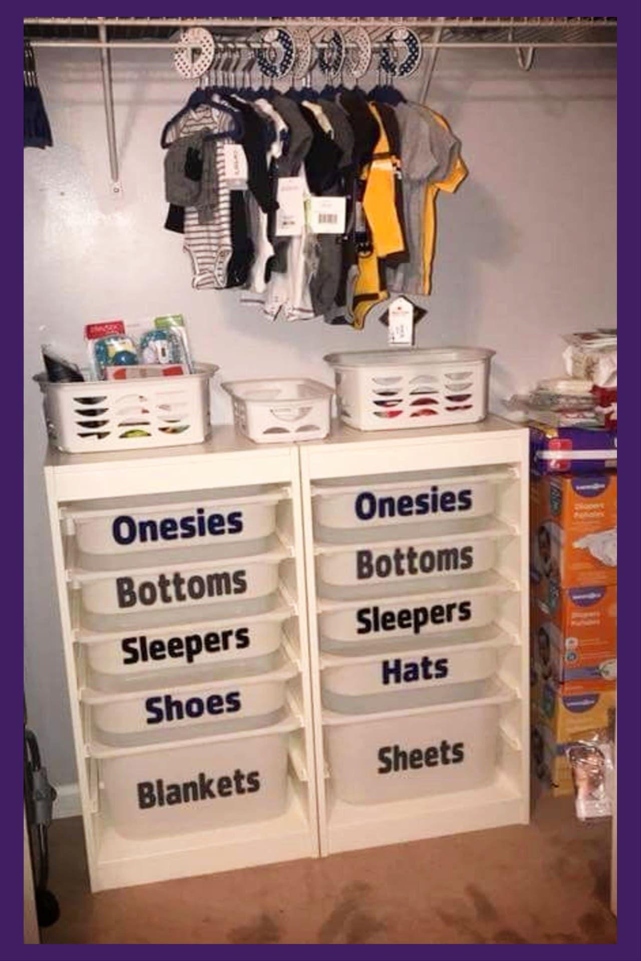 37 Baby Closet Organization Ideas Nursery Closet Organization Ideas We Love Nursery Closet Organization Baby Closet Organization Baby Clothes Organization