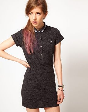 0735e904 Fred Perry For The Amy Winehouse Foundation Leopard Polo Shirt Dress ...