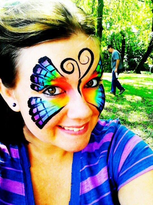 Rainbow butterfly Facepaint!!