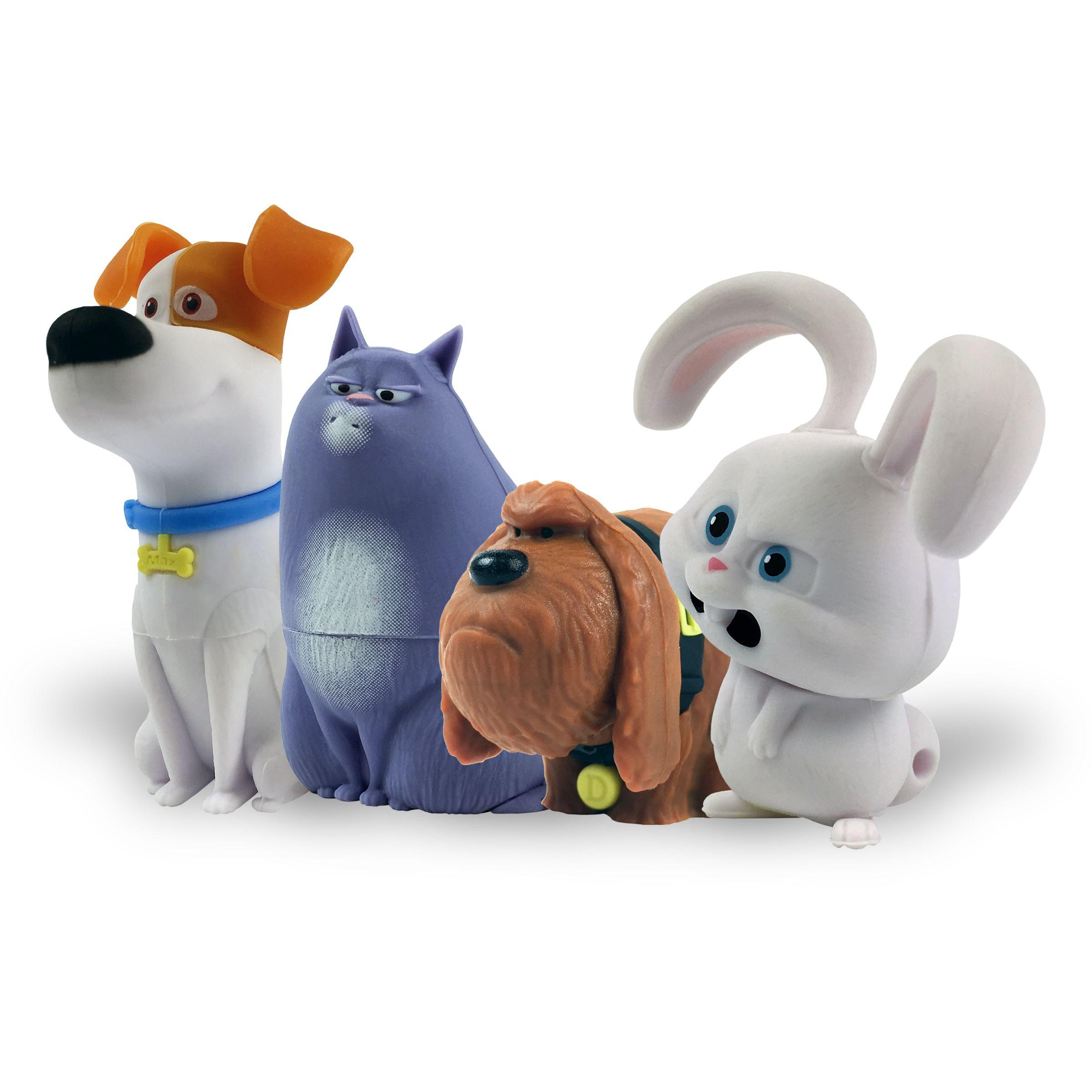 Secret Life of Pets Max, Chloe, Duke & Snowball