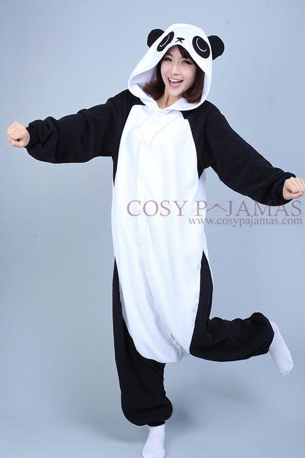 Fleece Panda Onesie Kigurumi Pajamas  ff5085ea5