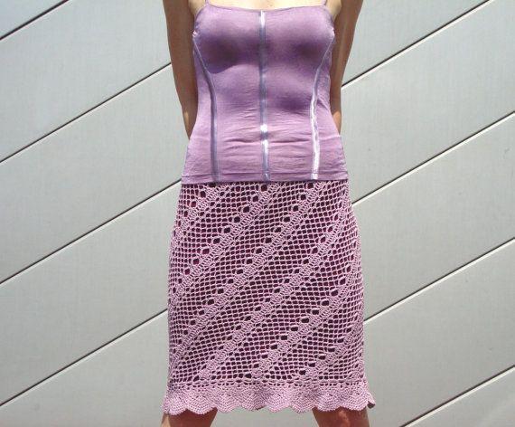 Crochet Skirt Pattern Crochet Knee Length Skirt Pattern Crochet
