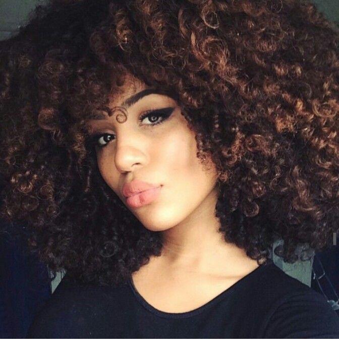 Caramel Highlights Curly Hair Styles Natural Hair Styles Curly Hair Inspiration