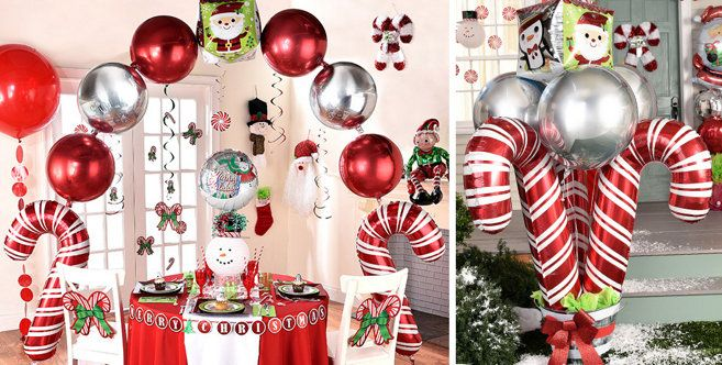 christmas balloons christmas balloon bouquets and balloon decorations santa and snowman balloons party city