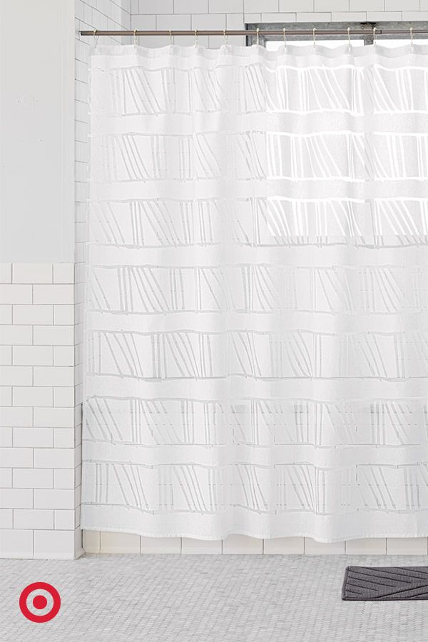 No Matter The Color Scheme In Your Bathroom This New NateBerkus Shower Curtain Will Blend Beautifully Its Clean Simple Contemporary