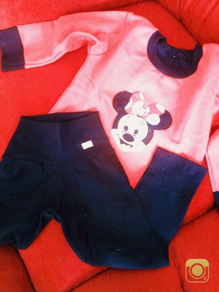 Conjunto moleton Infantil com legging