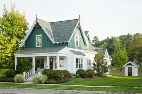fassadengestaltung einfamilienhaus ideen und bilder streichen pinterest. Black Bedroom Furniture Sets. Home Design Ideas