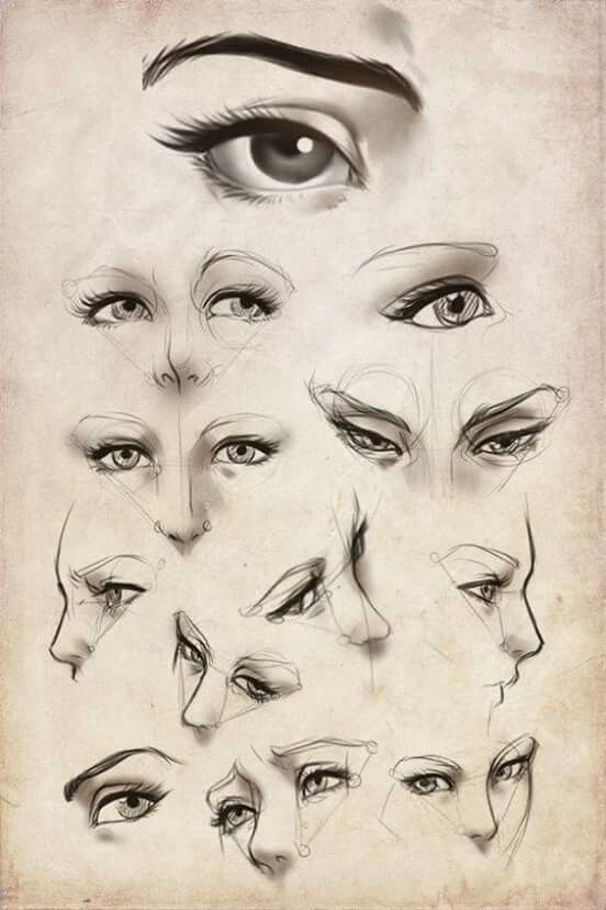 three point portrait female expressions reference art in 2018