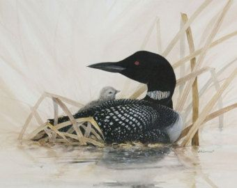 Loon Art Quilt Pattern by PatriciaIsArt on Etsy | Design ... : loon quilt pattern - Adamdwight.com