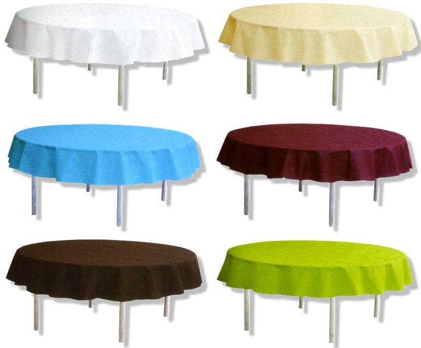 nappe ronde table mariage pour la decoration mariage : décoration