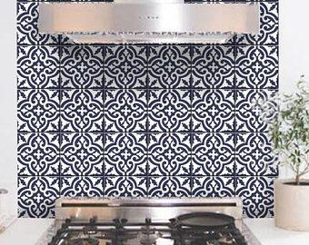 Fliesen Wandtattoo Marokkanische FliesenDesign Pack Von Einem - Marokkanische fliesen küche