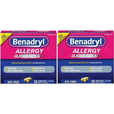 awesome 2 Pack BENADRYL ALLERGY LIQUI-GELS DYE-FREE 25MG 24 LIQUI GELS - For Sale View more at http://shipperscentral.com/wp/product/2-pack-benadryl-allergy-liqui-gels-dye-free-25mg-24-liqui-gels-for-sale/