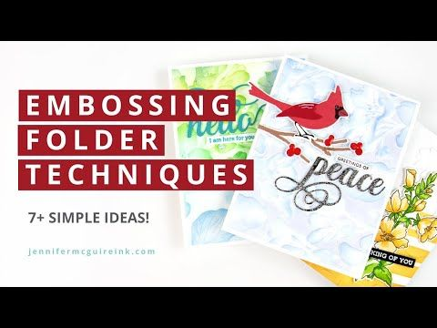Creative Uses for Embossing Folders - YouTube