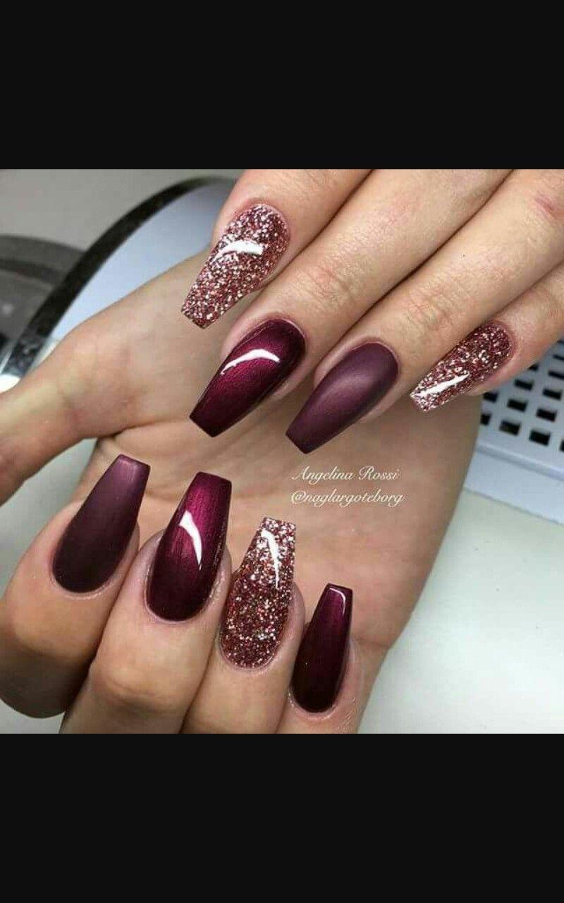 Unghie Color Vinaccia Nails Pinterest Makeup Nail Nail And