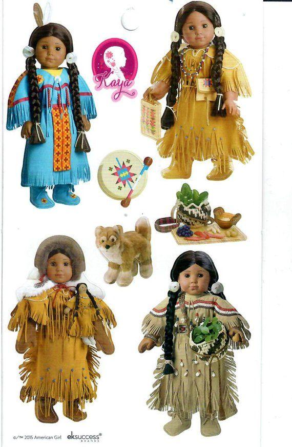 American Girl Kaya Deerskin Outfit Native Indian Kaya/'s Dress doll size NEW