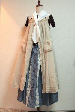 画像3: ハンドメイドギャザースカート【前開きデニム・80c丈】