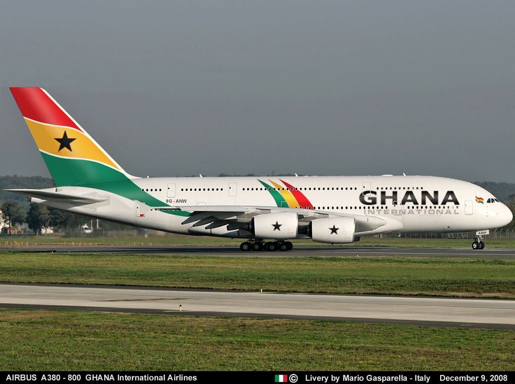 Ghana International Airlines Airbus A380 800 Aviation