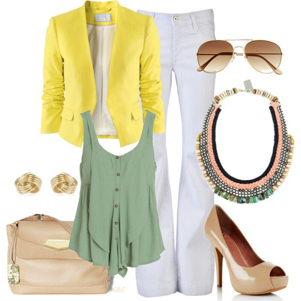 Yellow jacket, created by coombsie24 on Polyvore