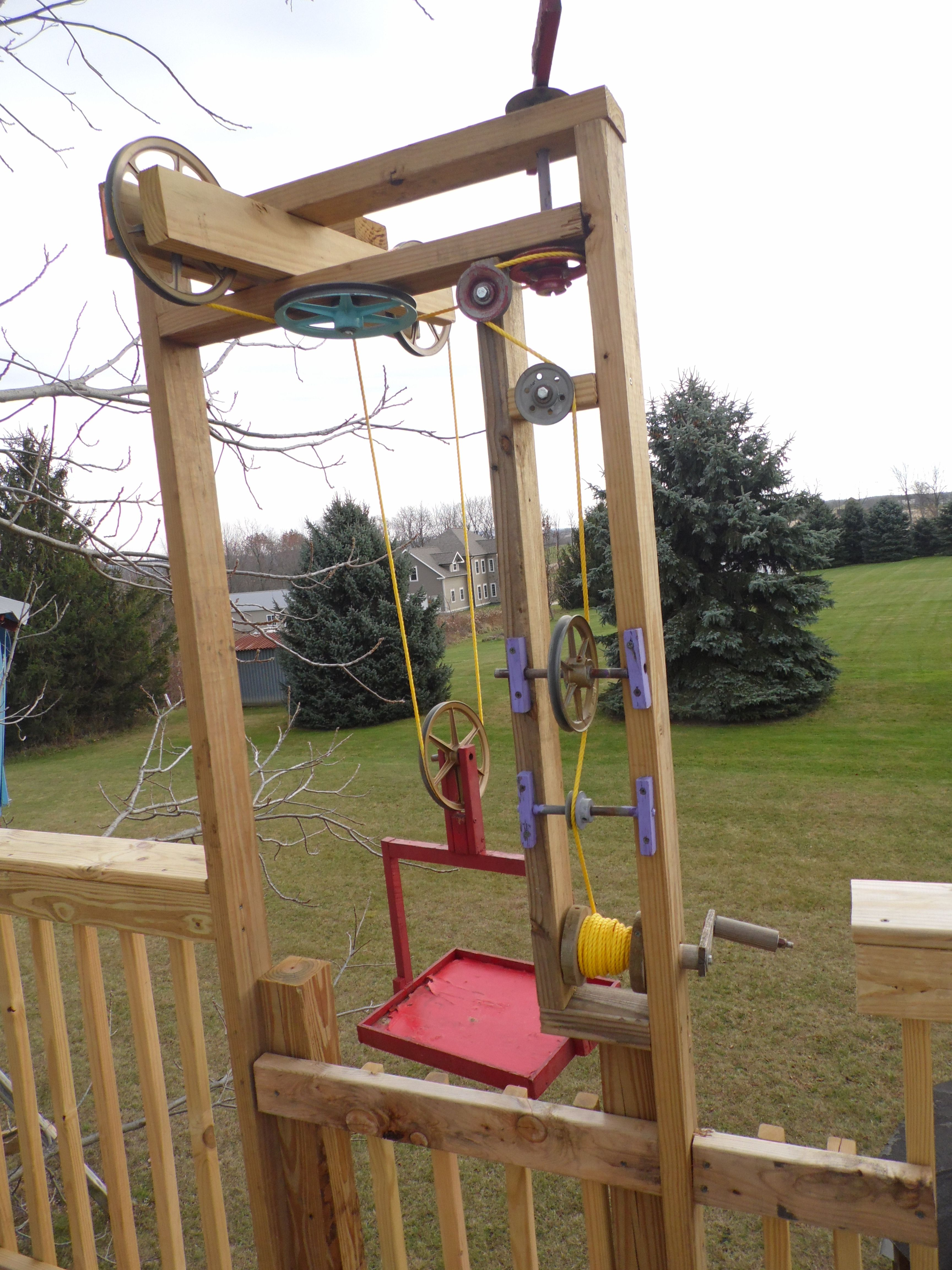 This Is A Dumb Waiter My Kids Use To Bring Things Up To The Tree Houses Check More Out At Www Treecreations O Tree House Kids Tree House Diy Tree House Plans