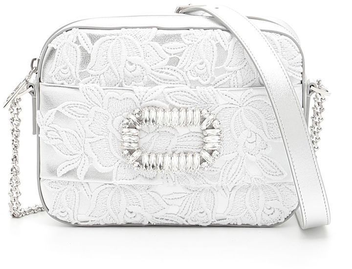 2e6a8c302d Roger Vivier Lace And Crystal Bag