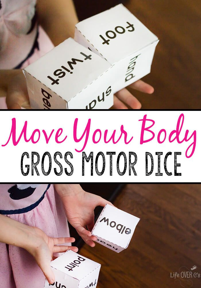 Have fun moving your body with this body gross motor dice game! Great for  brain breaks, rainy days or a boredom buster, kids can learn the parts of  the body ...