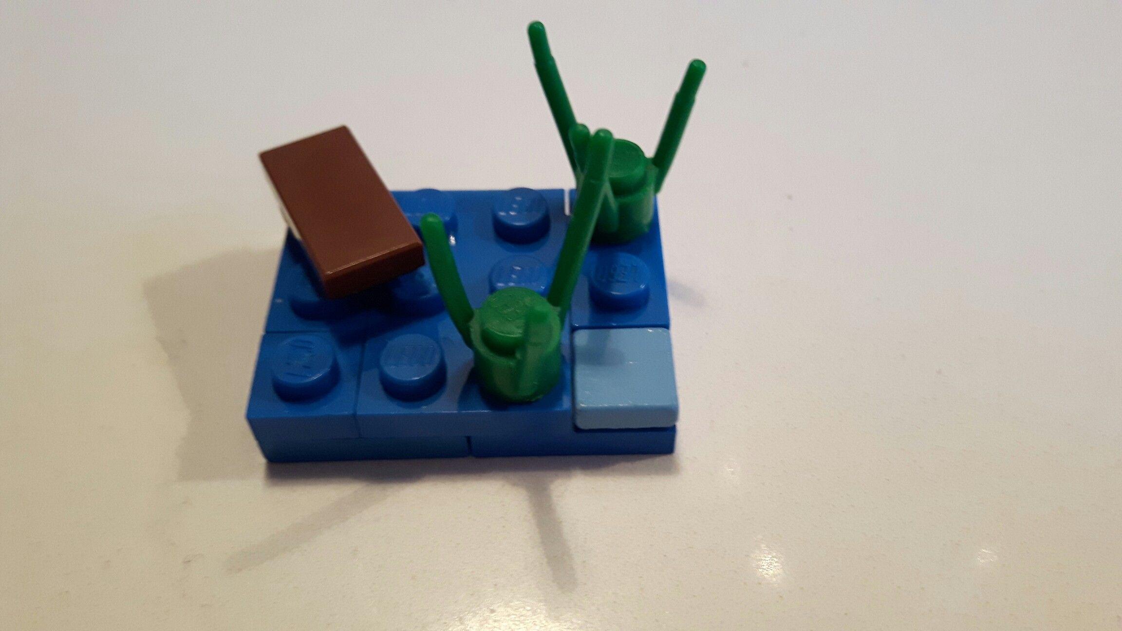 Micro lego vijver met drijfhout
