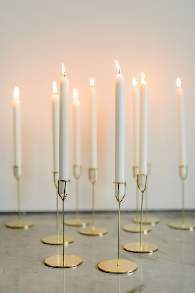 Modern gold candlesticks 135 Milimetros Minimalist