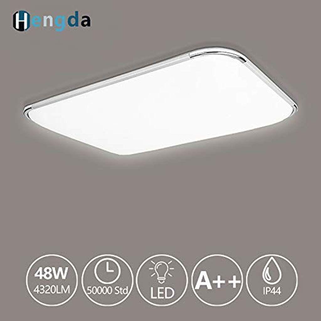Dimmbar Acryl 48W LED Deckenleuchte Deckenlampe Wohnzimmer Esszimmer Lampe IP44