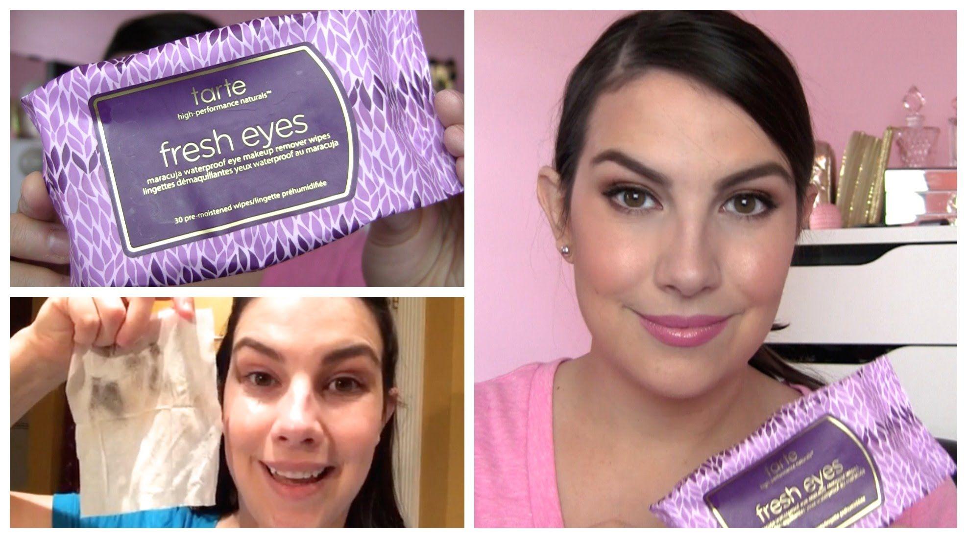 Tarte Fresh Eyes Eye Makeup Remover Wipes Review Eye