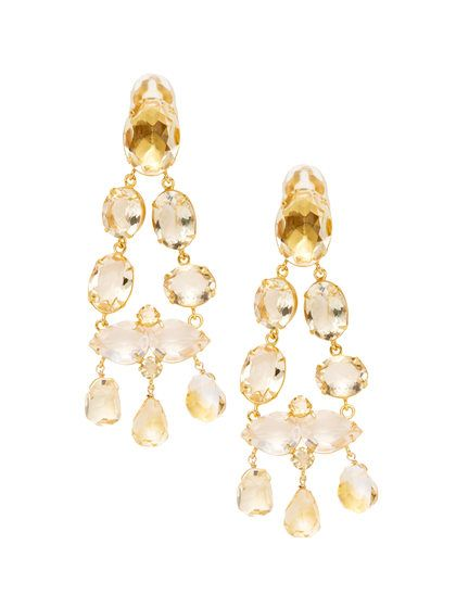 Citrine chandelier earrings by bounkit at gilt bounkit designs citrine chandelier earrings by bounkit at gilt mozeypictures Gallery