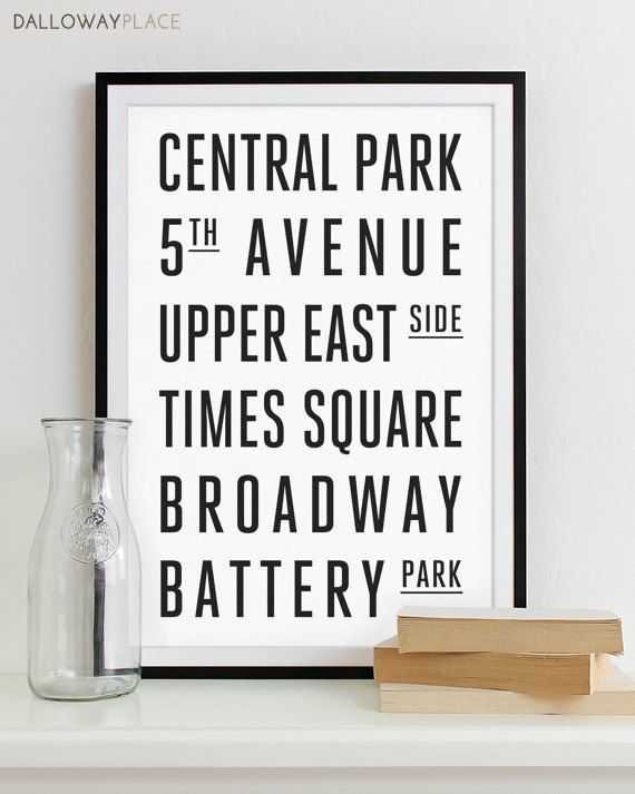 New York Subway Sign Art Subway Print Bus Roll City Poster Modern Home Decor