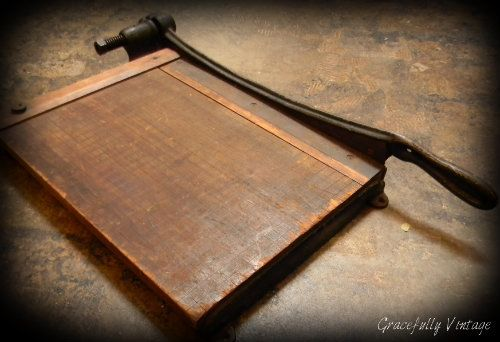 Antique Wood Paper Cutter How To Antique Wood Guillotine Paper Cutter Paper Cutter