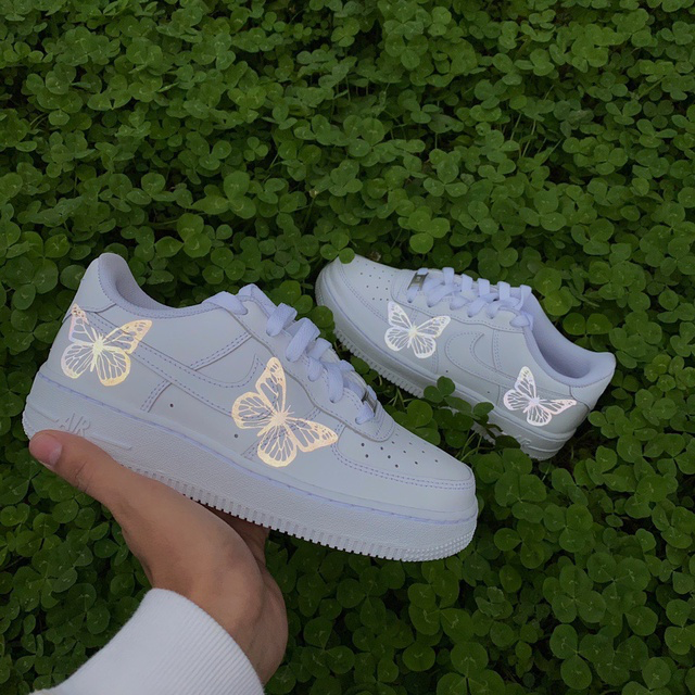 Reflective butterfly custom Air Force ones THE CUSTOM
